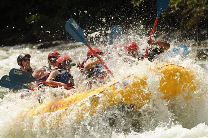 High Excitement White Water Rafting
