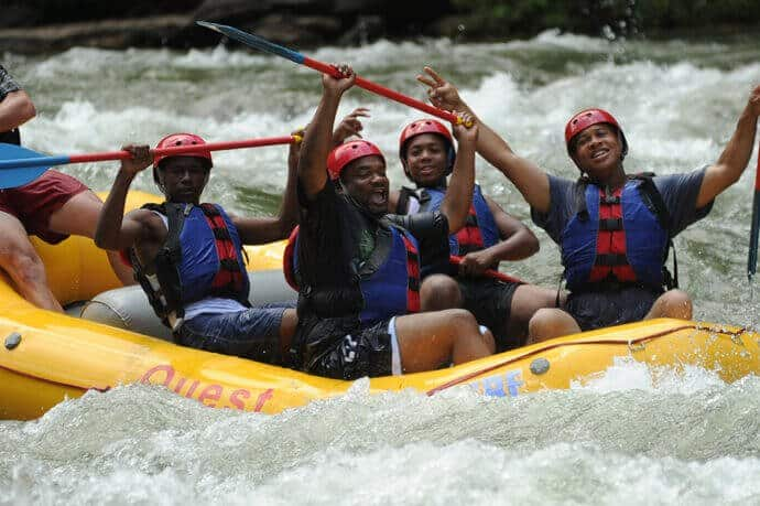 Group Having Fun Ocoee River Rafting