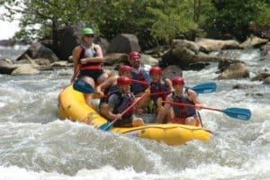 Running Rapids on Ocoee River