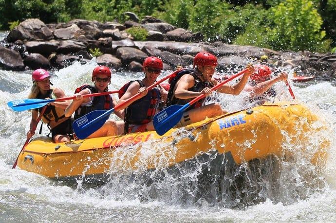 upper river rafting on the ocoee