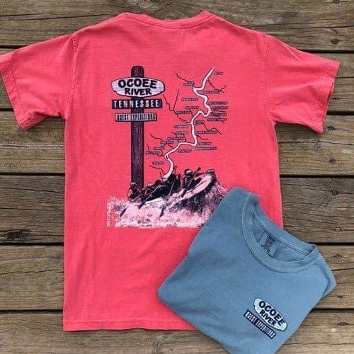 ocoee river rafting tshirts