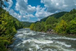 ocoee river with rapids